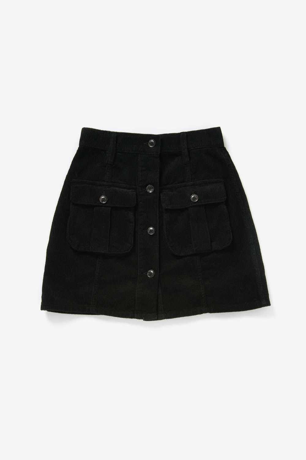 Out Pocket Corduroy Skirt_Dark greyBS9FSK402DY