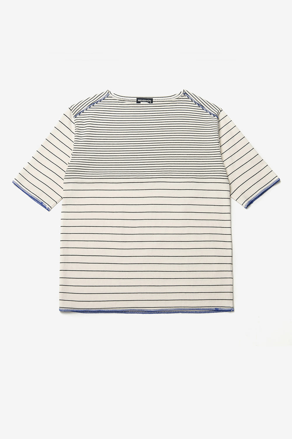 [벤시몽 X 비아플레인] Brush Stripe Short Sleeve_Ivory BS0STS216IV00F