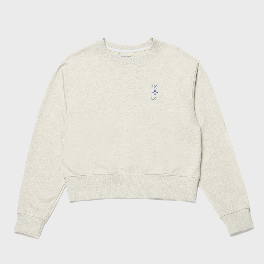 BENSIMON CROP SWEAT SHIRT - GREY