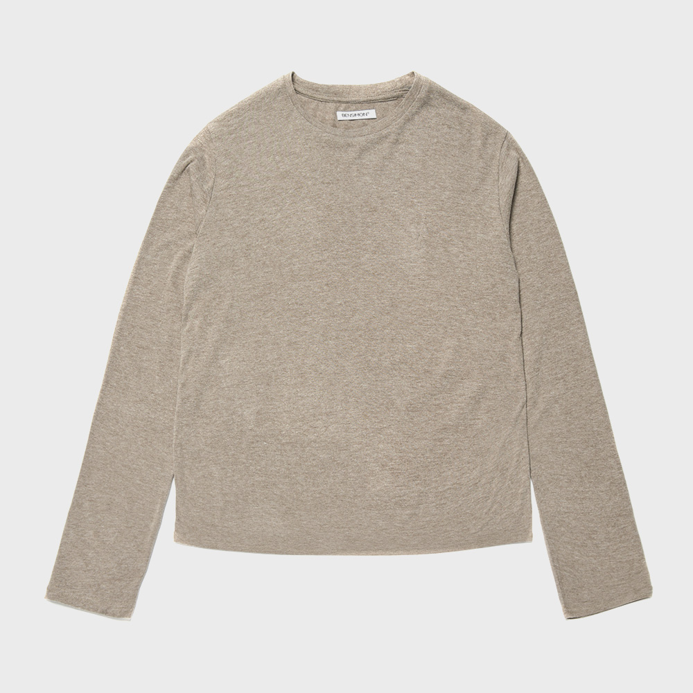 BENSIMON ANGORA CREW NECK KNIT - BROWN