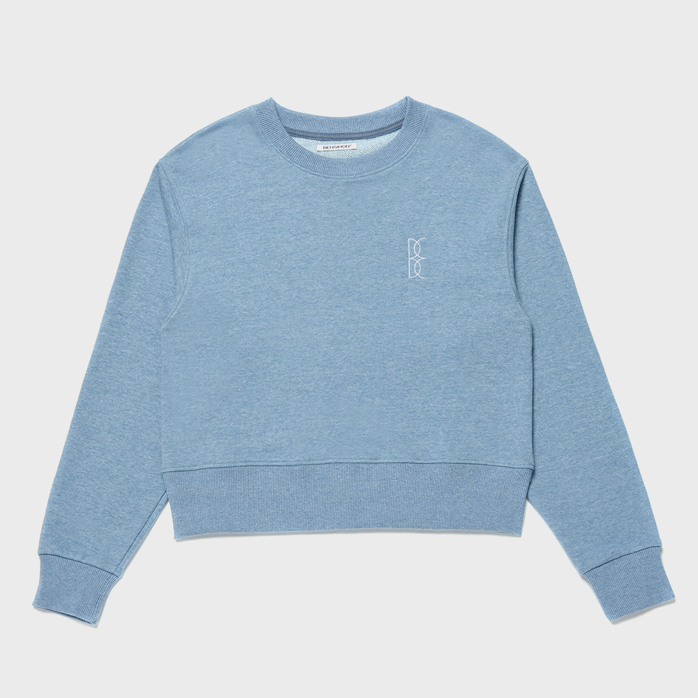 BENSIMON CROP SWEAT SHIRT - BLUE