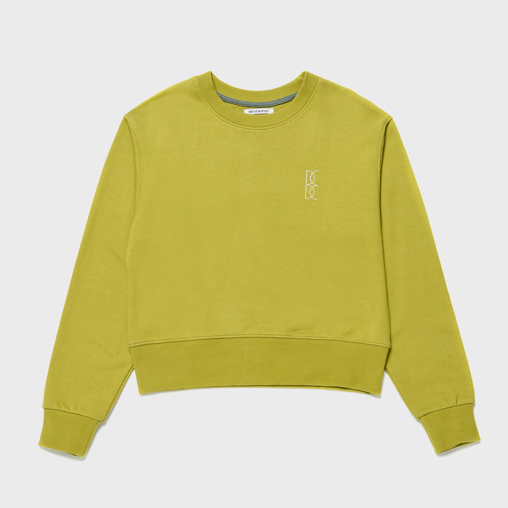 BENSIMON CROP SWEAT SHIRT - OLIVE