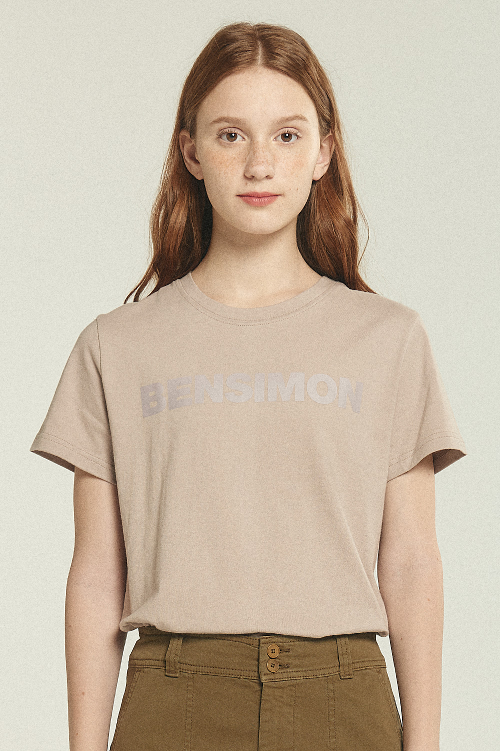 Woman T-Shirts_Eggshell BS0STS201EG00F