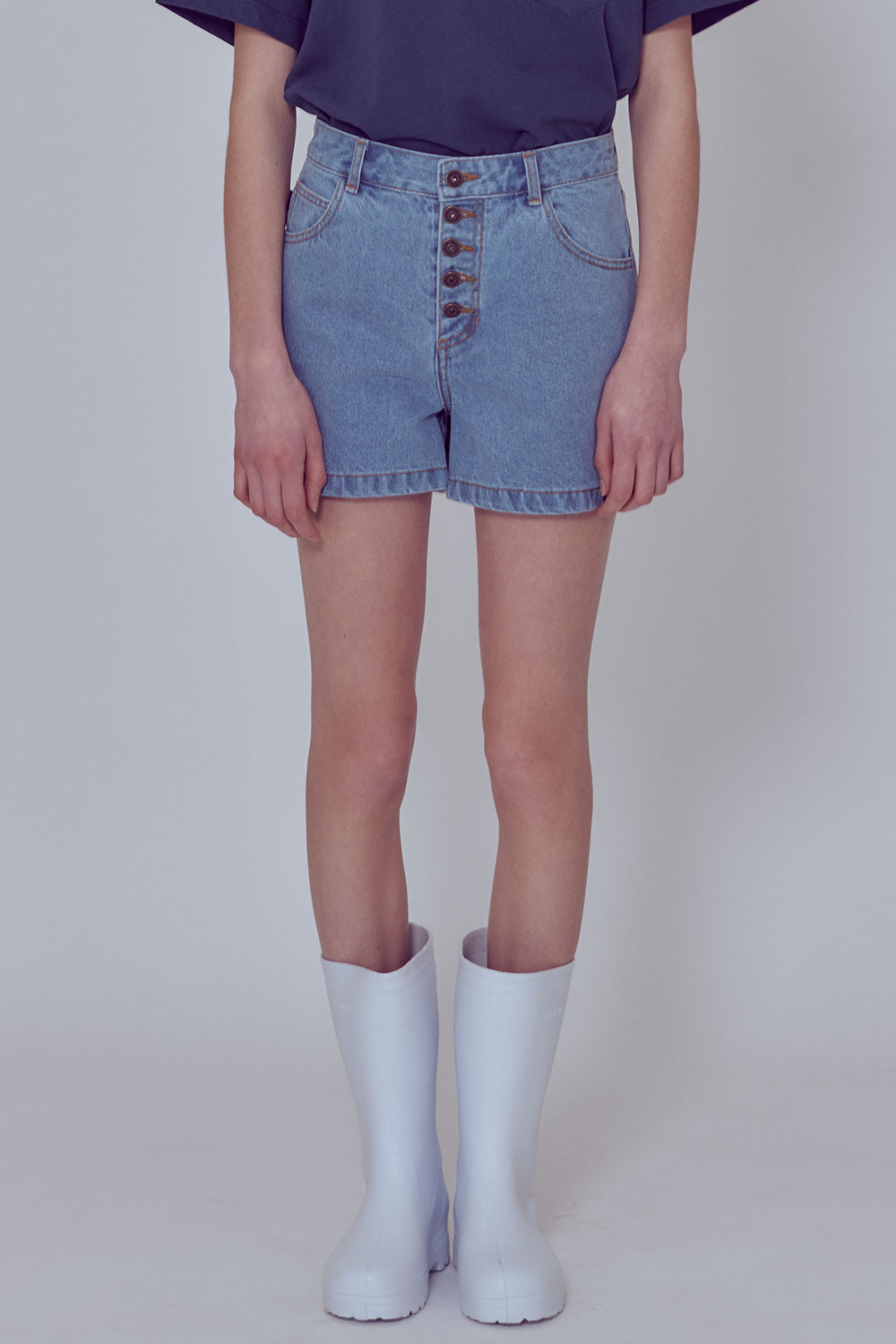 [벤시몽 X 비아플레인] Woman Denim Shorts_Denim BS0SPH406DM