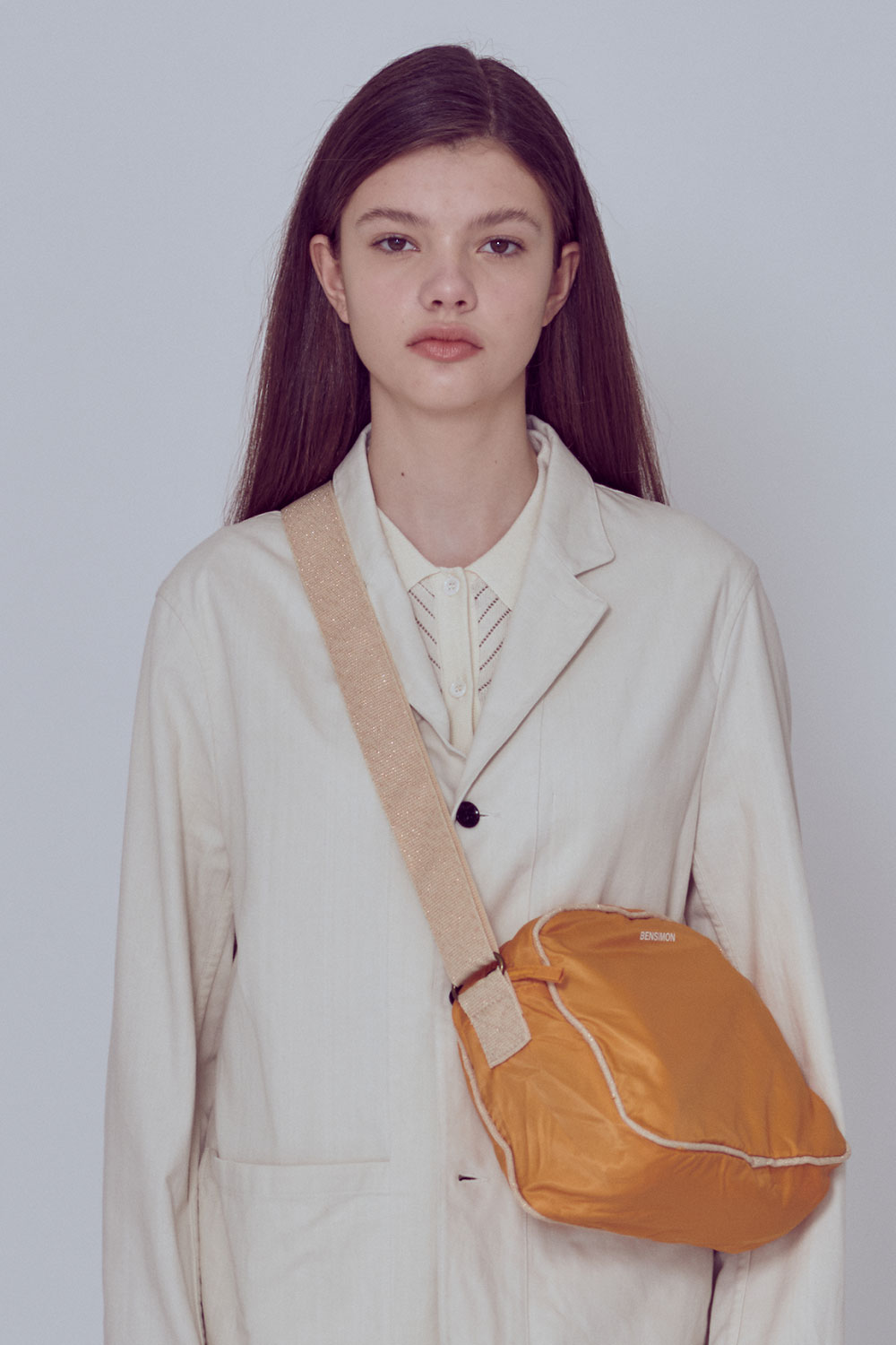 [벤시몽 X 비아플레인] Serge Cotton Jacket_Ivory BS0SJK301IV00F