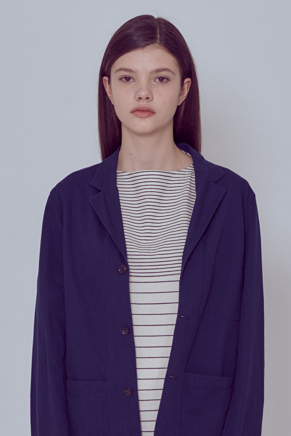 [벤시몽 X 비아플레인] Serge Cotton Jacket_Navy BS0SJK301NV00F