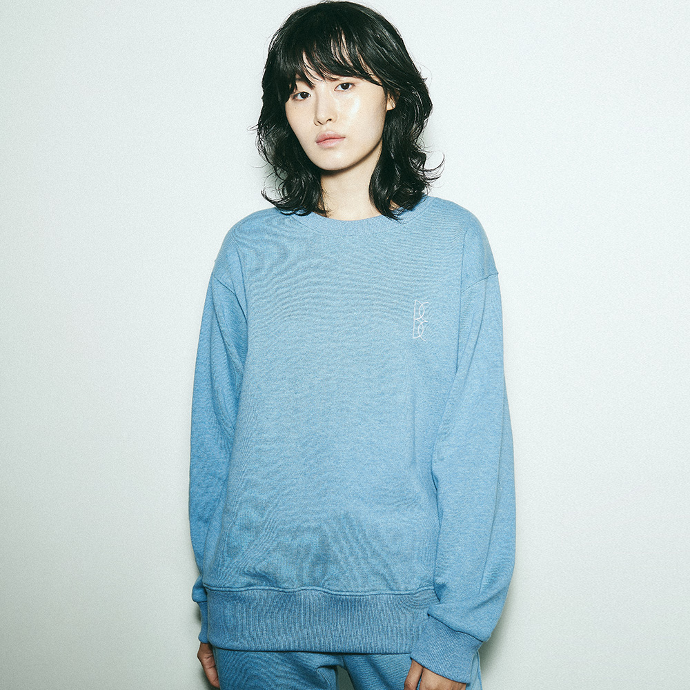 BENSIMON OVER SWEAT SHIRT - BLUE